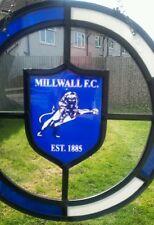 Millwall F.C. glass suncatcher / window hanging.  Ideal gift for Millwall fan