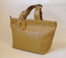 Coach Purse Handbag Camel Tan Brown Leather Tote Satchel Double Handles J7C-4133