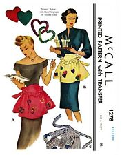 McCall Misses Apron One size Material Fabric sewing pattern # 1278