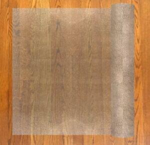 "Resilia Deluxe Vinyl Plastic Floor Runner Protector For Hardwood Floors 27"" X 6'"