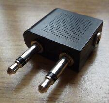 Aviones 3.5 mm hembra a macho 3.5 mm de doble zócalo de adaptador de conector para auriculares de línea aérea