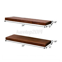 2 PCS Floating Shelves Wall Rustic Wood for Living Room Bathroom Bedroom Office
