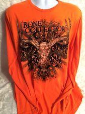Bone Collector Orange Long Sleeve Shirt Large