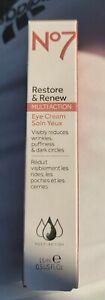 No7 Restore & Renew Multi Action Eye Cream - 15ml/0.5 fl oz - New/Sealed!!