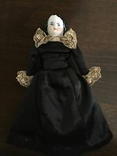 "Antique German 6"" Doll House  Smiling China Lady Doll LOVELY"