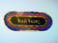 KLOS NEIL YOUNG VINTAGE 1980's ROCK & ROLL PRISM DECAL STICKER OVAL RAINBOW