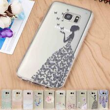 Für Samsung Galaxy S7 Edge Note 5 A3 Handy Hülle Silikon Case Cover Schutzhülle