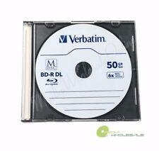 M DISC VERBATIM BD-R DL 50GB 6X Branded Logo 5 pk Disc - Jewel Case