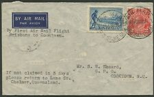 Aerophilately: 27 Oct.1935 (AAMC.550a) Cairns - Cooktown intermediate cover