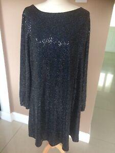 Black Sparkle Dress Size 18