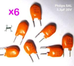3,3uF 35V (6 Stück) - Philips SAL Kondensator NOS bis 175° - extremely long life