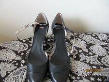 """Camper shoes ladies UK 7.5 Black leather block heel 3"""" High"""