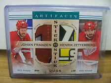 2014-15 UD ARTIFACTS STICK TO STICK FRANZEN ZETTERBERG RED WINGS DUOS SS-ZF
