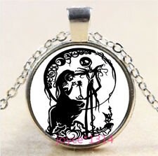 Nightmare Before Christmas Cabochon silver Glass Chain Pendant Necklace #6292