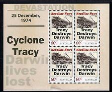 2013 Headline News MUH Mini Sheet - Cyclone Tracy
