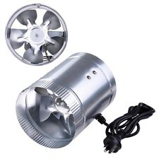 "6"" 150mm Hydroponic Exhaust Vent Fan Inline Duct Blower Grow Tent Ventilation"