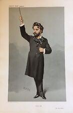 Original Vanity Fair Print 1907 'Queens Hall' Mr Henry Wood Conductor - Music