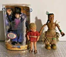 PRESIDENT ABRAHAM LINCOLN, INDIAN BRAVE, GIRL BENDABLE FIGURES, ODYSSEY TOYS