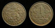 Netherlands - 1 Cent 1939 deels originele muntkleur