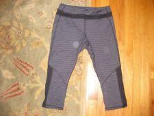 Kyodan Striped Sport Yoga Pants Legging Size Large (L) - Black and Gray