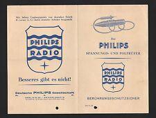 BERLIN, Prospekt 1958, Deutsche Philips GmbH Radio Spannungspolprüfer