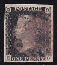 1840 Great Britain, N° 1 Penny Black Used - Discreet Margins