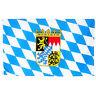Fahne Bayern mit Wappen Querformat 90 x 150 cm Bundesland BRD Flagge Oktoberfest