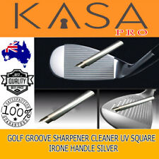 Golf Club U V Square Wedge Iron Groove Sharpener Cleaner Regrooving Tool