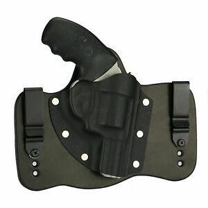 FoxX Leather & Kydex IWB Hybrid Holster Charter Arms (Pick your Model) Black RH