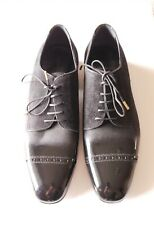 Jimmy Choo Men's Size 43 Suede & Patent Leather Lace-up Oxford Shoes