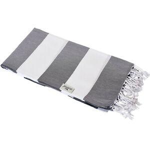 Hamam Cloth Tommy Grey Maritime Look Striped Slightly Stylish 100x180 CM Cotton