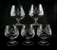 5 stunning vintage lead crystal Brandy Whisky Baloons Snifters Glasses