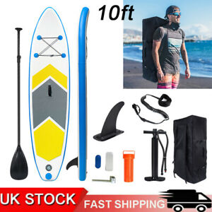 10FT Inflatable Stand Up Paddle Board SUP Surfboard Non-Slip Deck Pump Bag Set
