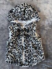 Next Baby Girl 12-18 Months Grey/black Animal Print Teddy Gilet Body warmer