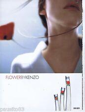 PUBLICITE ADVERTISING 075  2003  FLOWER by KENZO  parfum femme
