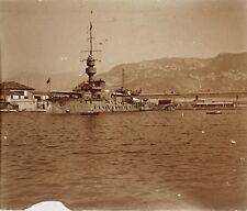 Toulon Navire militaire France Plaque M17 Stereo Vintage Positif 6x13cm