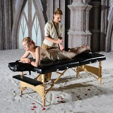 Master Massage 32 inch Extra Large Gibraltar Portable Salon Table Package Bed