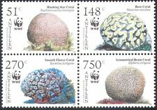 Netherlands Antilles 2005 WWF/Corals/Marine/nature/Conservation 4v blk (n25877)