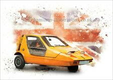 Bond Bug Reliant  Birthday Greetings Card. Optional Print available