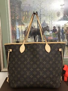 ❤ Louis Vuitton Neverfull MM ❤ Monogram Shoulder Tote 100%Auth LV Hot Stamp