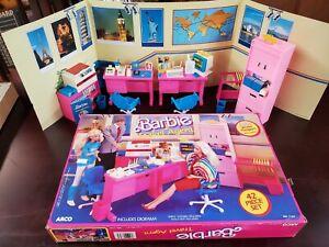 Vintage 1986 Barbie Travel Agent Set in Box 7747 Accessories Furniture