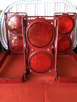 3 Vintage GROTE No 70  Red FLARE Set  Roadside Reflectors