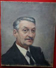 Portrait d'homme, huile sur toile, signée, XXè siècle, signée, très bon état