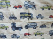 Pottery Barn Kids vehicles cars trucks  100% cotton fitted sheet pillow case