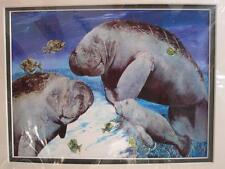 Florida Manatee Print #47/94 By Linda L.Della Poali Florida Artist Limited 11x14
