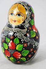 "Russian Matryoshka Babushka Doll - hand painted 6"" tall - JINGLE TOY"