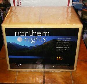 NORTHERN NIGHTS QVC 100% COTTON FULL SIZE SHEET SET  BEIGE NEW