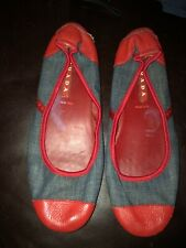 Prada Denim Calzature Donna Ballet Shoes size 39