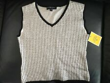 Bettina Liano Sleeveless Top and Skirt Black + White Set Sz 10 New with Tags