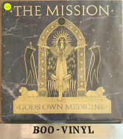 "The Mission ‎– Gods Own Medicine 12"" Vinyl LP Rock Goth Rock 1986 MERH102 Vg Con"